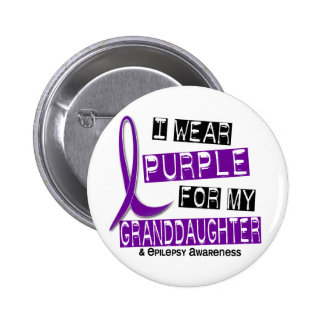 I Wear Purple For My Granddaughter 37 Epilepsy 6 Cm Round Badge