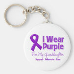 I Wear Purple For My Granddaughter Keychains