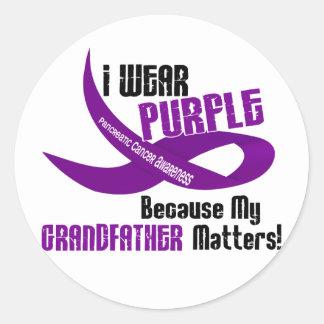 I Wear Purple For My Grandfather 33 Apparel Sticker