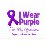 I Wear Purple For My Grandma Postcard