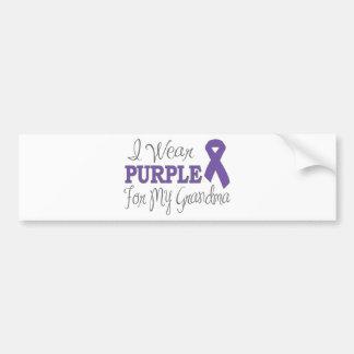 I Wear Purple For My Grandma Purple Ribbon Bumper Stickers