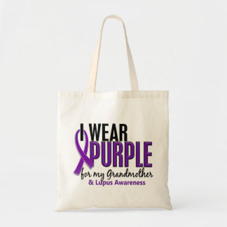 I Wear Purple For My Grandmother 10 Lupus Budget Tote Bag