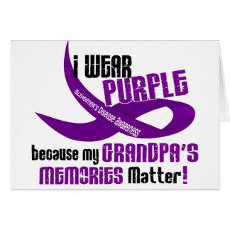 I Wear Purple For My Grandpa's Memories 33 Greeting Card
