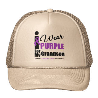 I Wear Purple For My Grandson Cap