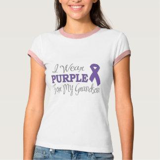 I Wear Purple For My Grandson (Purple Ribbon) T-Shirt