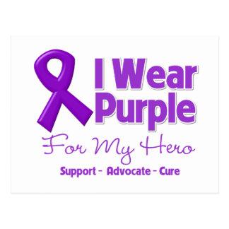 I Wear Purple For My Hero Postcard