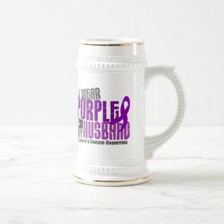 I Wear Purple For My Husband 6 Crohn's Disease Mug