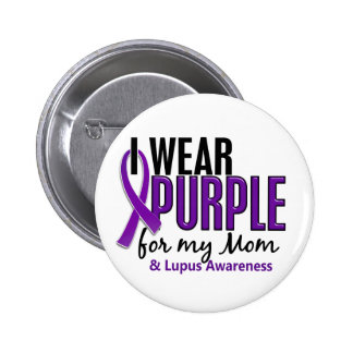 I Wear Purple For My Mom 10 Lupus 6 Cm Round Badge