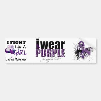 I Wear Purple For My Mom Car Bumper Sticker