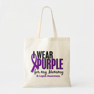 I Wear Purple For My Mommy 10 Lupus Budget Tote Bag
