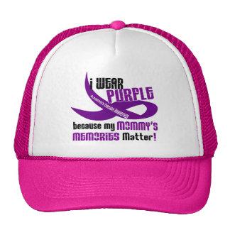 I Wear Purple For My Mommy's Memories 33 Cap