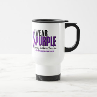 I Wear Purple For My Mother-In-Law 10 Fibromyalgia 15 Oz Stainless Steel Travel Mug