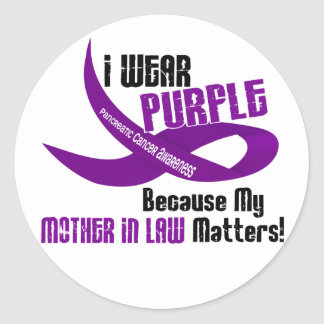 I Wear Purple For My Mother-In-Law 33 T-Shirts Stickers