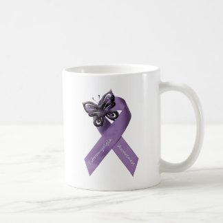 I wear purple for my .... basic white mug