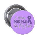 I Wear Purple For My Mum (Purple Ribbon) Pinback Button
