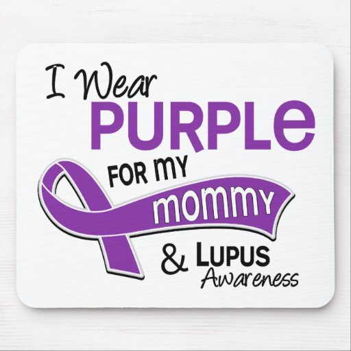 I Wear Purple For My Mummy 42 Lupus Mouse Pad