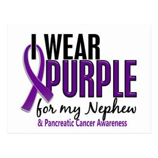 I Wear Purple For My Nephew 10 Pancreatic Cancer Postcard