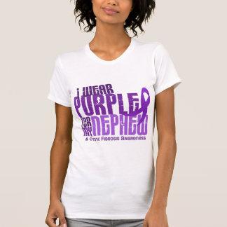 I Wear Purple For My Nephew 6.4 Cystic Fibrosis T-Shirt