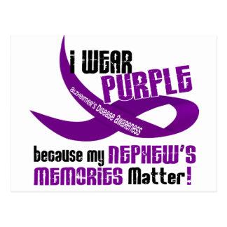I Wear Purple For My Nephew's Memories 33 Postcard