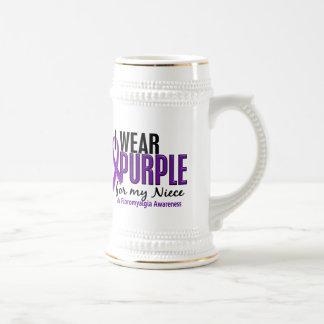 I Wear Purple For My Niece 10 Fibromyalgia Beer Steins