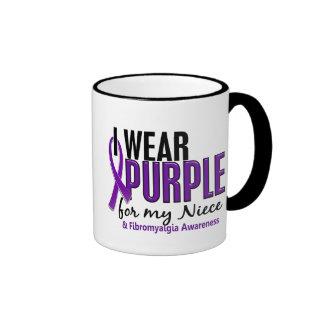 I Wear Purple For My Niece 10 Fibromyalgia Ringer Coffee Mug