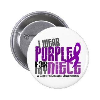 I Wear Purple For My Niece 6 Crohn's Disease 6 Cm Round Badge