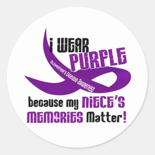 I Wear Purple For My Niece's Memories 33 Sticker