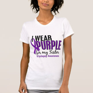 I Wear Purple For My Sister 10 Epilepsy T-Shirt