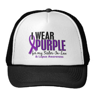 I Wear Purple For My Sister-In-Law 10 Lupus Cap