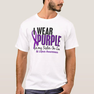 I Wear Purple For My Sister-In-Law 10 Lupus T-Shirt