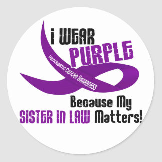 I Wear Purple For My Sister-In-Law 33 TShirts Round Sticker