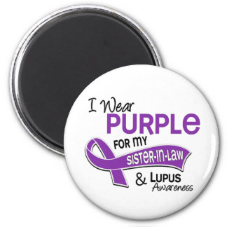 I Wear Purple For My Sister-In-Law 42 Lupus 6 Cm Round Magnet