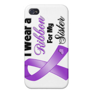 I Wear Purple For My Sister iPhone 4/4S Cases