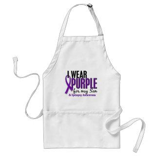 I Wear Purple For My Son 10 Epilepsy Standard Apron