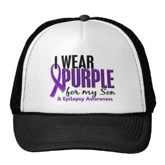 I Wear Purple For My Son 10 Epilepsy Cap