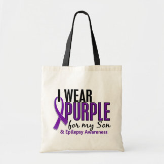 I Wear Purple For My Son 10 Epilepsy Tote Bag