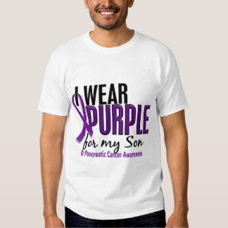 I Wear Purple For My Son 10 Pancreatic Cancer Shirt