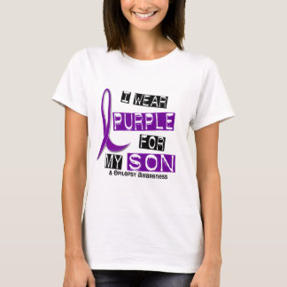 I Wear Purple For My Son 37 Epilepsy T-Shirt