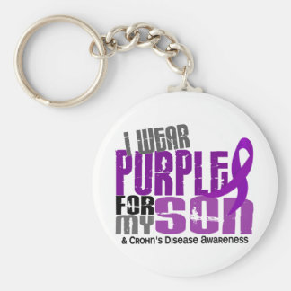 I Wear Purple For My Son 6 Crohn's Disease Key Ring