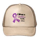 I Wear Purple For My Son Mesh Hat
