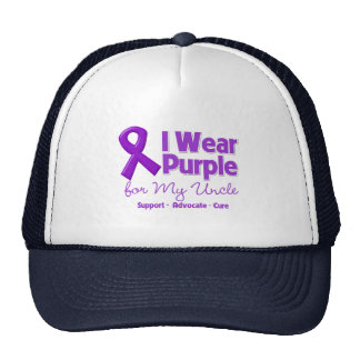 I Wear Purple For My Uncle Mesh Hats