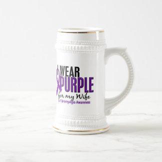 I Wear Purple For My Wife 10 Fibromyalgia Beer Steins