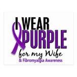 I Wear Purple For My Wife 10 Fibromyalgia Post Cards