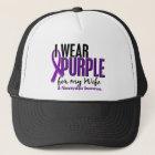 I Wear Purple For My Wife 10 Fibromyalgia Trucker Hat
