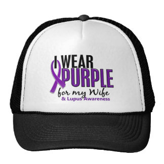 I Wear Purple For My Wife 10 Lupus Cap