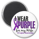 I Wear Purple For My Wife 10 Lupus Fridge Magnet
