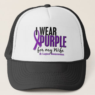 I Wear Purple For My Wife 10 Lupus Trucker Hat