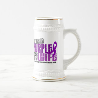 I Wear Purple For My Wife 6 Crohn's Disease Beer Steins
