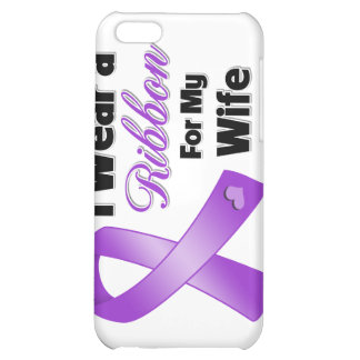 I Wear Purple For My Wife iPhone 5C Case