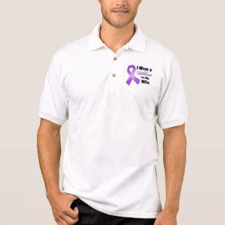 I Wear Purple For My Wife Polo Shirt
